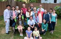 Members and friends of the Seattle-Kobe Sister City Association gathered to greet Ms. Akane Kotani and celebrate Mr. Sometani's birthday