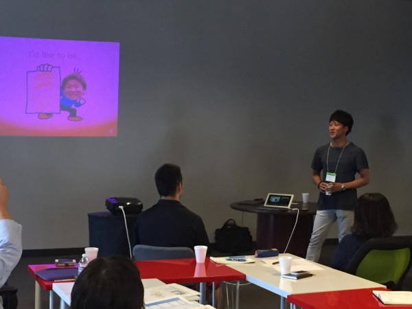 At 500 Startups, participants from Japan lean how to effectively pitch an idea.